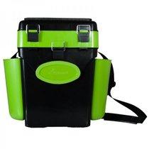 Ящик для зимней рыбалки Helios FishBox двухсекционный 10л зеленый (64060) - Тонар