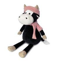 Мягкая игрушка MAXITOYS LUXURY MT-MRT022023-28 Коровка Маша в шарфе и шапке 28 см - Maxitoys Luxury