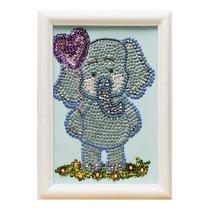 Мозаика из пайеток ВОЛШЕБНАЯ МАСТЕРСКАЯ М022 Слоненок - Волшебная Мастерская