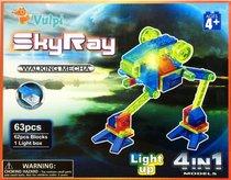 Светодиодный конструктор Марсоход 4 в 1 - Sky Ray