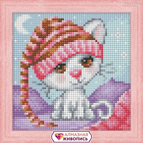 Алмазная мозаика АЛМАЗНАЯ ЖИВОПИСЬ АЖ-1571 Сонный котенок - АЛМАЗНАЯ ЖИВОПИСЬ