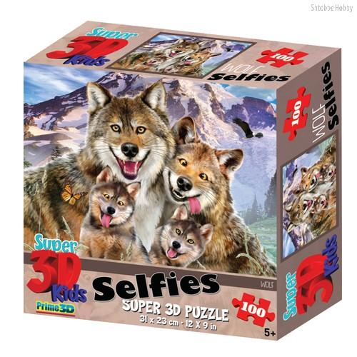 Стерео пазл PRIME 3D 13669 Волки селфи - Prime 3d