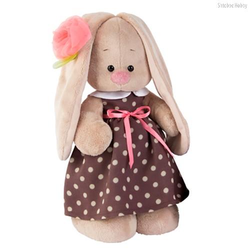 Мягкая игрушка Зайка Ми в кофейном платье (большая) - Буди Баса