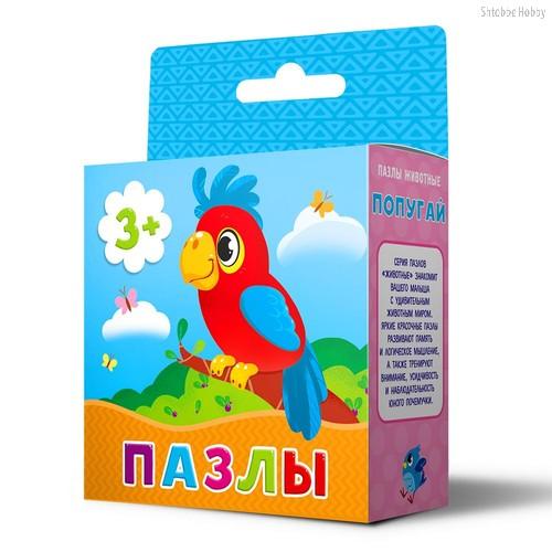 Пазл ГЕОДОМ 4344 Попугай - Геодом