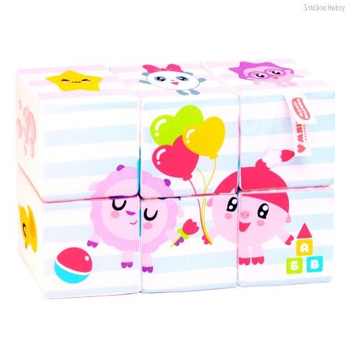 Кубики МЯКИШИ 398 Малышарики Мультики - Мякиши