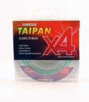 Леска плетеная Siweida Taipan Classic PE Braid X4 135м 0,23мм (13,60кг) светло-зеленая - Siweida