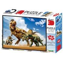 Стерео пазл PRIME 3D 10329 Тираннозавр против трицератопса - Prime 3d