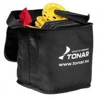 Набор жерлиц оснащенных 10 шт Тонар ЖЗО-03 в сумке, подставка 210, катушка 85 мм - Тонар