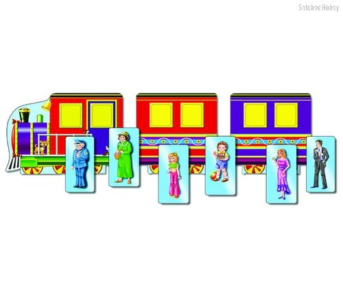 Развивающая игра РАДУГА С-610 Паровозик (с кармашками) - РАДУГА