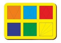 Рамка-вкладыш Сложи 6 квадратов, уровень 2 - WOODLAND