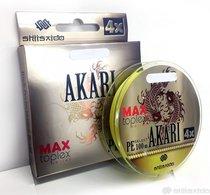 Шнур плетеный Shii Saido Akari 4X, 150 м, 0,272 мм, до 11,33 кг, yellow SBLA150-4X-27 - Shii Saido