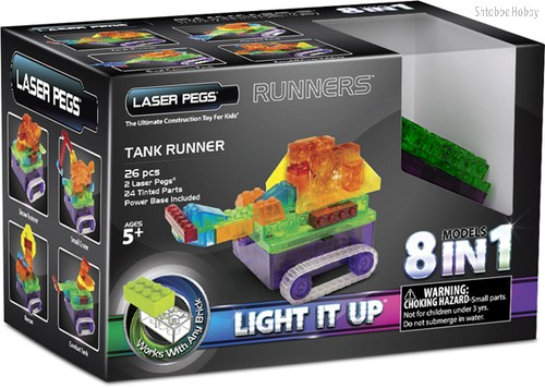 Светодиодный конструктор Танк с цветными деталями 8 в 1 - Laser Pegs
