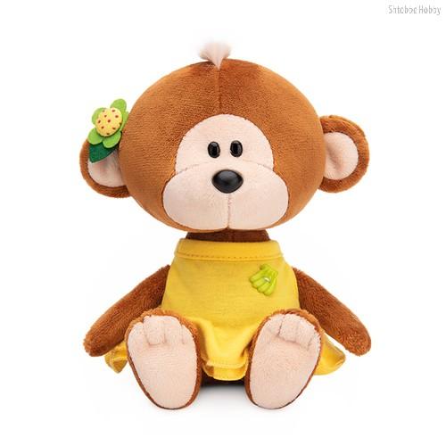 Мягкая игрушка BUDI BASA SA15-50 Обезьянка Отиша в желтом платье - Буди Баса