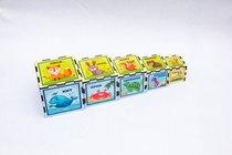 Кубики WOODLANDTOYS 098110 Животные