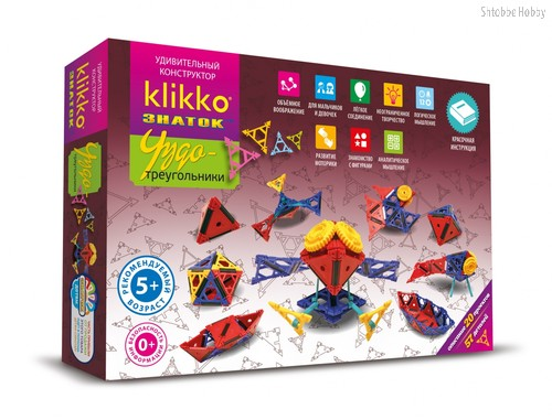 Конструктор Klikko Чудо треугольники 20 в 1 - Знаток