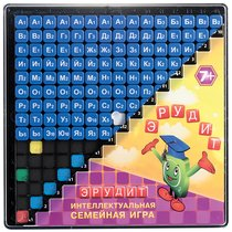Настольная игра БИПЛАНТ 10012 Эрудит. Синие фишки - БИПЛАНТ