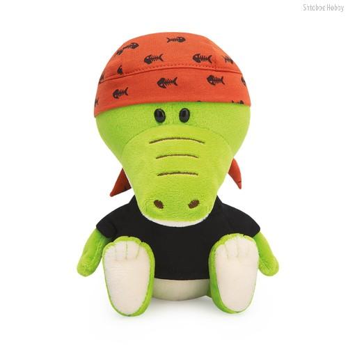 Мягкая игрушка BUDI BASA SA15-80 Крокодильчик Кики в черной футболке и бандане - Буди Баса