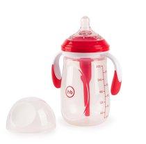 Бутылочка HAPPY BABY 10020 антиколиковая с ручками и силиконовой соской ruby, 300 мл. - Happy Baby