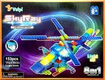 Светодиодный конструктор Вертолет 8 в 1 - Sky Ray