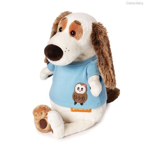 Мягкая игрушка BUDI BASA Bart27-010 Бартоломей в футболке с совой - Буди Баса