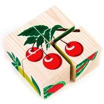 """Кубики """"Фрукты-ягоды"""" 4 шт. - Томик"""