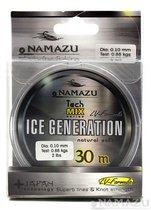 Леска Namazu Ice Generation, 30 м, 0,08 мм, до 0,44 кг, прозрачная NIG30-0,08 - Namazu