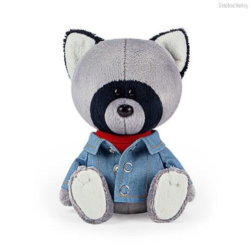 Мягкая игрушка BUDI BASA LE15-042 Енот Лёка в красной майке и джинсовке - Буди Баса