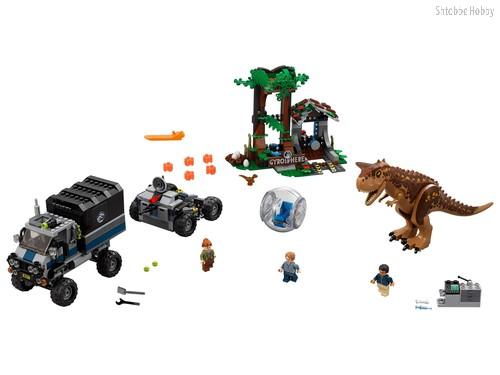 Конструктор Jurassic World Побег в гиросфере от карнотавра - Lego