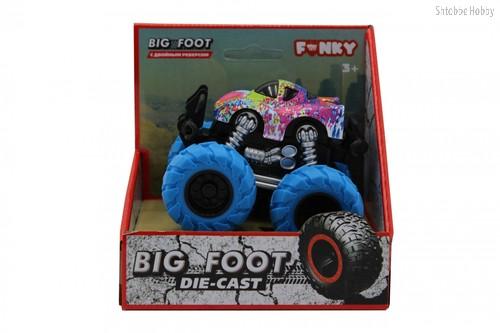 Машина пластиковая FUNKY TOYS FT61040 гоночная die-cast, 4*4, синие колеса - Funky Toys