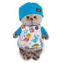 Мягкая игрушка BUDI BASA Ks22-091 Басик в футболке космос и в шапочке 22см - Буди Баса