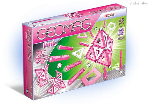 Магнитный конструктор GEOMAG 342 Pink 68 деталей - Geomag