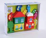 Игровой набор ТОМИК 8688-4 Цветной городок (14 дет) зеленый - Томик