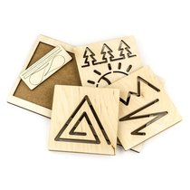 Обучающий набор WOODLANDTOYS 134103 Межполушарная доска Треугольник - WOODLAND
