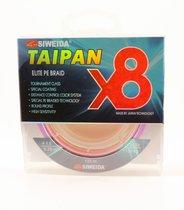 Леска плетеная Siweida Taipan Elite PE Braid X8 135м 0,20мм (11,36кг) мультиколор - Siweida