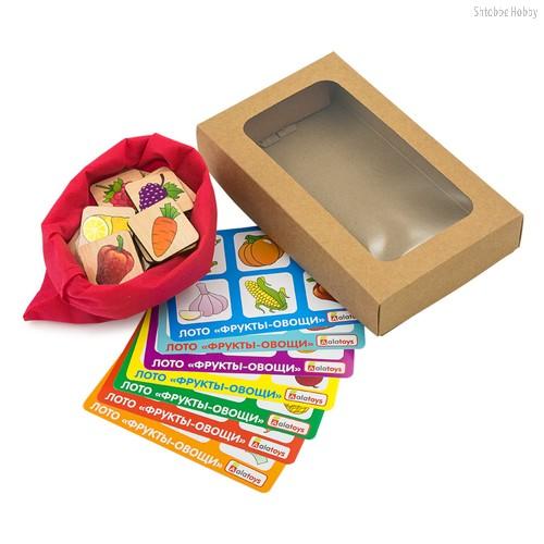 Лото ALATOYS ЛТ01 фрукты-овощи - Alatoys