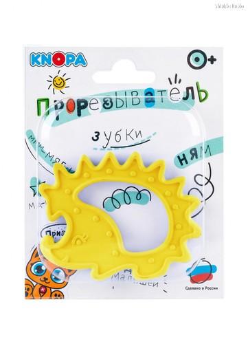 Прорезыватель KNOPA 80068 Ежик, желтый - Knopa