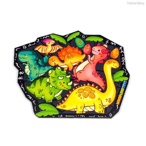 Пазл WOODLANDTOYS 137101 Динозавры - WOODLAND