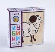 """Кубики """"Домашние животные"""" 9 шт - Томик"""