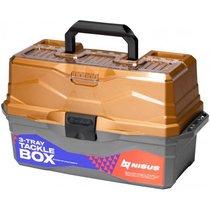 Ящик для снастей Nisus Tackle Box трехполочный золотой N-TB-3-GO - Тонар