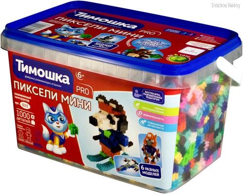 Конструктор ТИМОШКА 23 Пиксели мини 1000 деталей - Тимошка