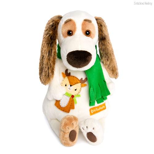 Мягкая игрушка BUDI BASA Bart27-009 Бартоломей в шарфе и с оленем - Буди Баса