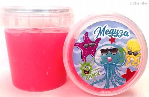 Слайм ПЛЮХ 2384 Медуза светящаяся розовая, 120 г - Плюх